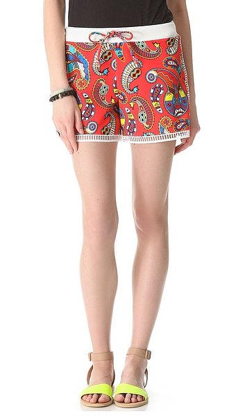 These MSGM printed bermuda shorts ($247) have a punchy paisley print that can work for day or night. And if you ever have a reason to bust out a bright shoe, these are it!