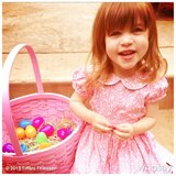 Harper Smith showed off her findings from Easter morning. Source: Instagram user tathiessen