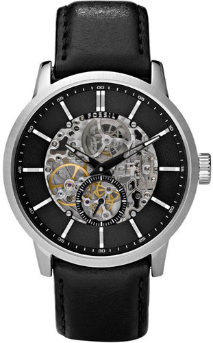 Mechanical Automatic Leather Watch – Black