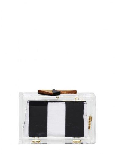 Lucite Box Clutch