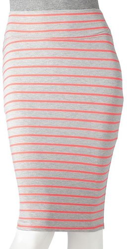 Candie's striped body con pencil skirt - juniors