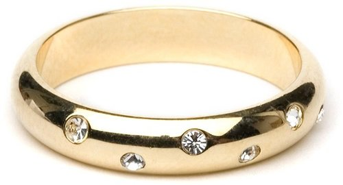 Gold Crystal Stud Ring