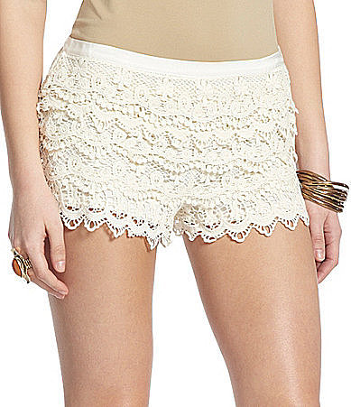 Takara Crochet Tiered Shorts