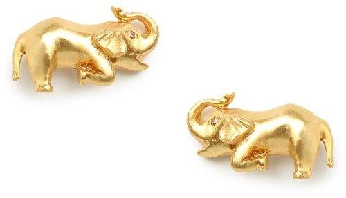 Julie Vos Gold Elephant Studs