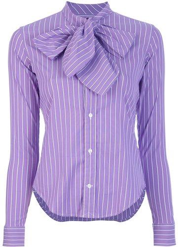 Ralph Lauren Blue pussy bow blouse