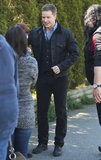 Once Upon a Time's Josh Dallas took a break from filming to meet fans on the set in Vancouver on Friday.