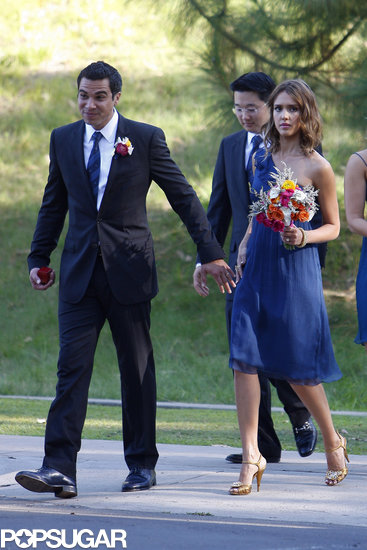 Jessica Alba was a bridesmaid and Cash Warren the best man for their pals' Beverly Hills wedding in September 2010.