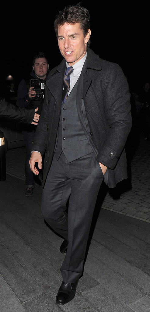 Tom Cruise was on the move in London.
