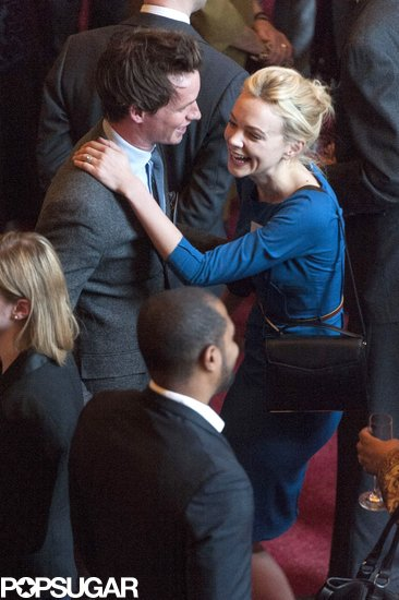 Carey Mulligan laughed with Eddie Redmayne.