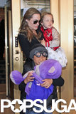 Knox Jolie-Pitt popped up in the Big Apple with his mom, Angelina Jolie, and brother Pax Jolie-Pitt to go toy shopping in April.