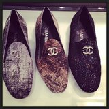 Lovely tweed loafers from Chanel.