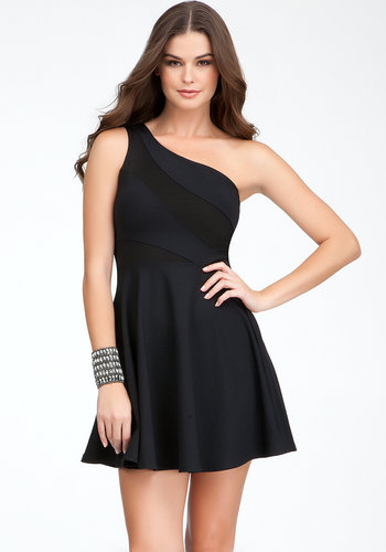 One Shoulder Fit & Flare Dress - ONLINE EXCLUSIVE