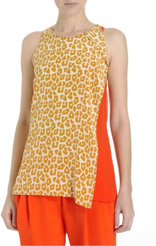 3.1 Phillip Lim Leopard Combo Top Sale up to 60% off at Barneyswarehouse.com
