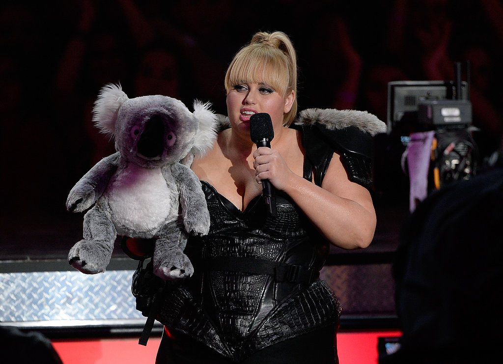 Rebel Wilson hosted the show — alongside a blackened koala.