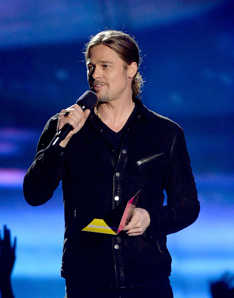 Brad Pitt gave out the night's big award.