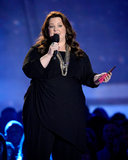Melissa McCarthy hit the stage in all black.