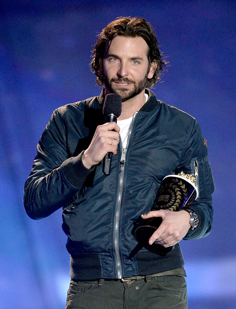 Bradley Cooper clutched his popcorn award.