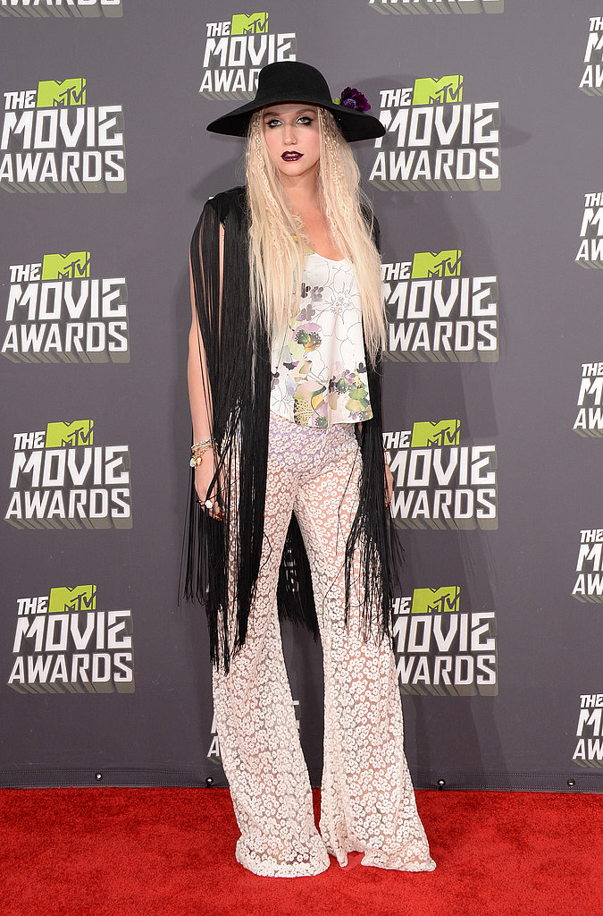 Ke$ha at the MTV Movie Awards.