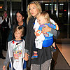 Kate Hudson Flies Into NYC With Her Sons