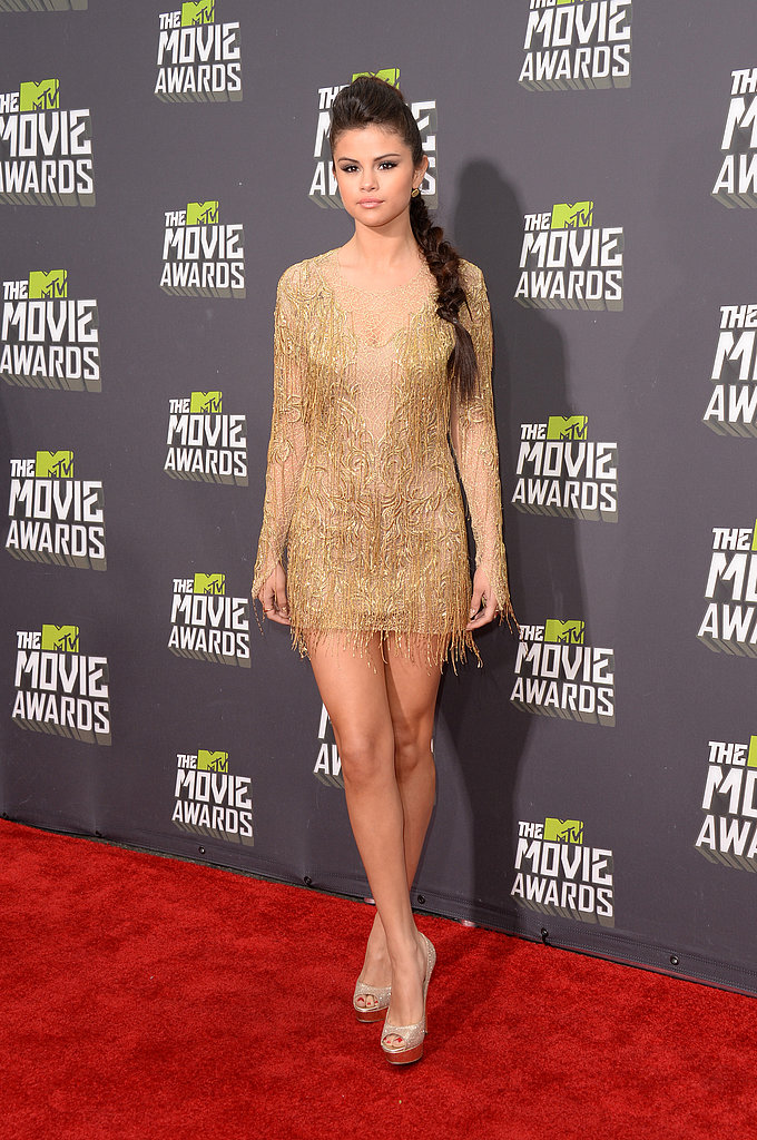 Selena Gomez at the MTV Movie Awards.