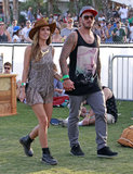Audrina Patridge and Corey Bohan held hands.
