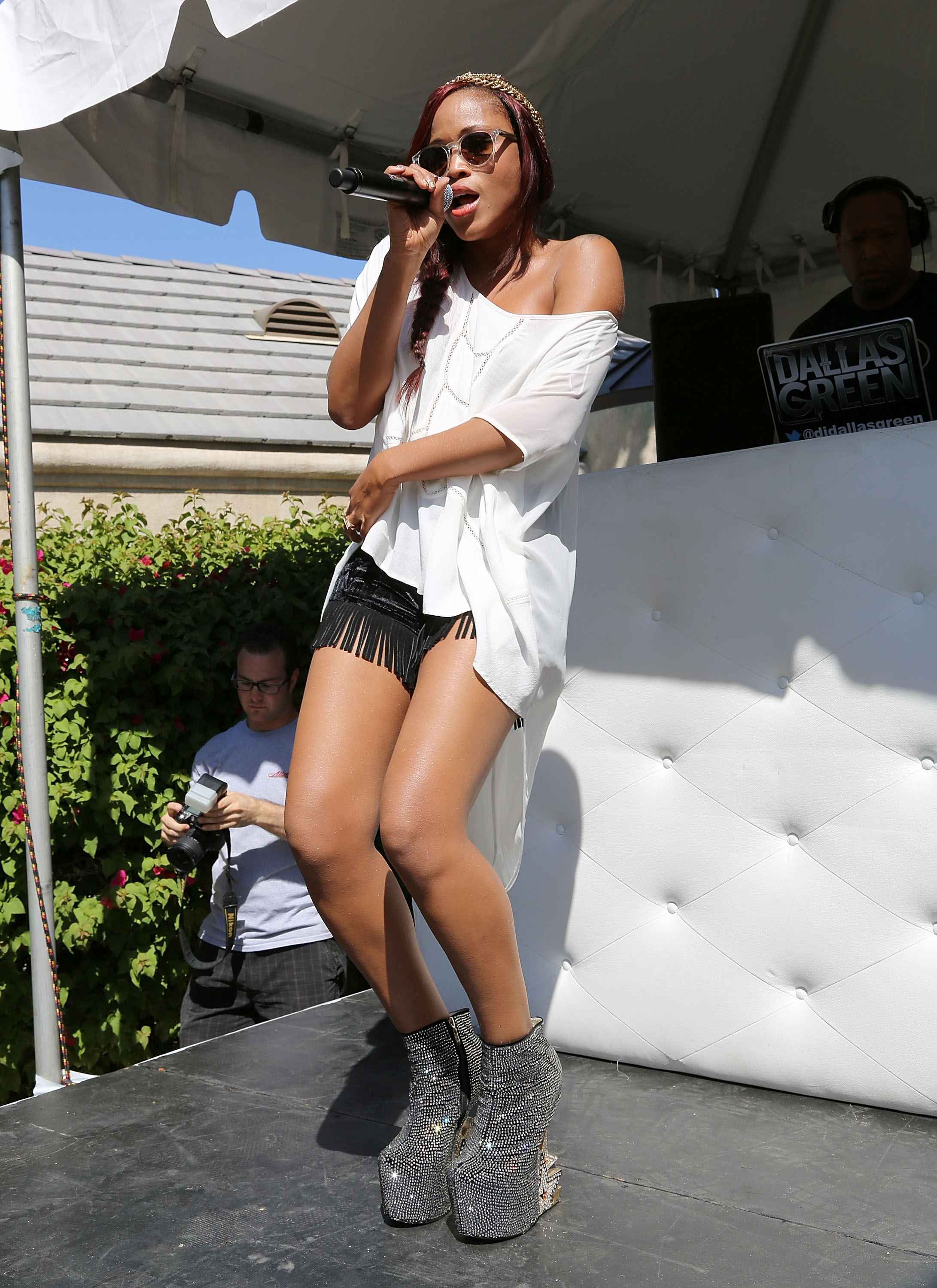 Eve took the stage at the Nylon X Boss Orange party in 2013.