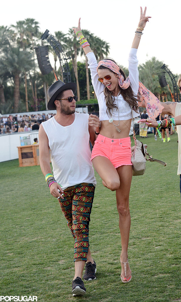 Alessandra Ambrosio jumped for joy.