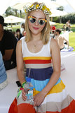 AnnaSophia Robb was decked out for the Lacoste L!ve Coachella Desert Pool Party.