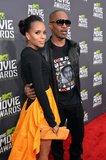 Kerry Washington and Jamie Foxx posed on the red carpet together at the MTV Movie Awards.