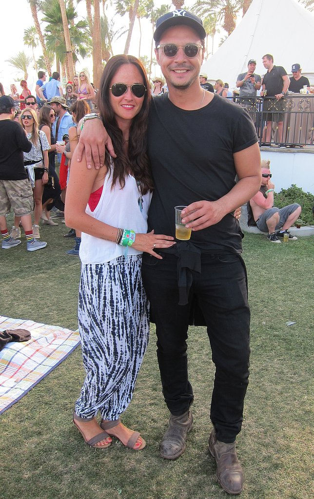 His all-black ensemble provided the perfect backdrop to her awesome printed pants.
