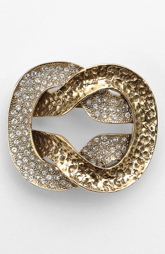 St. John Collection Antique Gold Knot Brooch