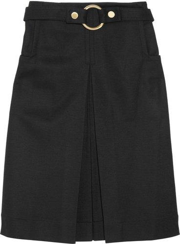 Diane von Furstenberg Marie belted stretch wool-blend skirt
