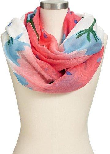 Women's Floral-Print Gauze Scarves