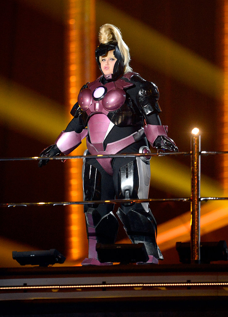 Rebel rocked an Iron Man-type suit.