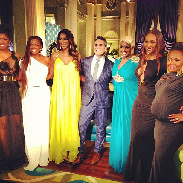 Andy Cohen gathered the ladies of The Real Housewives of Atlanta for a reunion. Source: Instagram user bravoandy