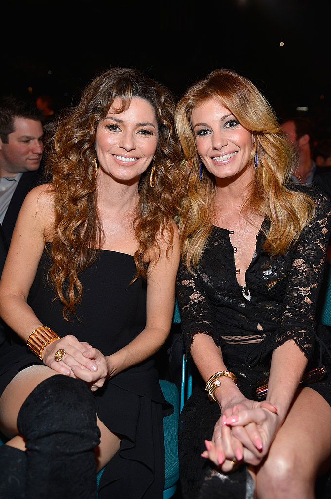 Shania Twain and Faith Hill were all smiles.
