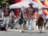 Sasha and Kai rode ponies in Brentwood.