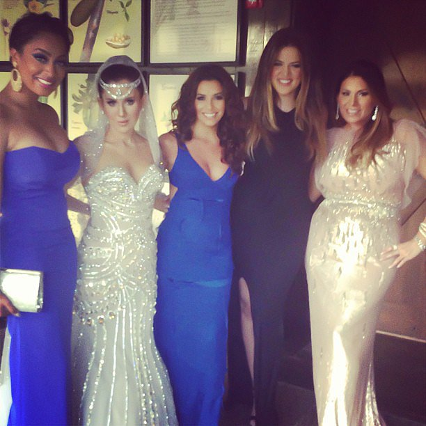 La La Vasquez, Eva Longoria, and Khloé Kardashian posed in Puerto Rico in April to celebrate the wedding of their friend Amber Ridinger to Duane McLaughlin. Source:  Instagram user Lala
