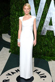 Gwyneth looked statuesque in a streamlined Tom Ford confection and dazzling Jimmy Choo sandals at the Vanity Fair Oscars party in West Hollywood.