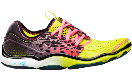 "The designers at Under Armour broke the mold when they designed these colorful ""Toxic"" running shoes ($100).  Beyond this fun print, the offset lace reduces pressure from the top of your foot, while the foam offers the right balance of support and flexibility for this minimalist design."