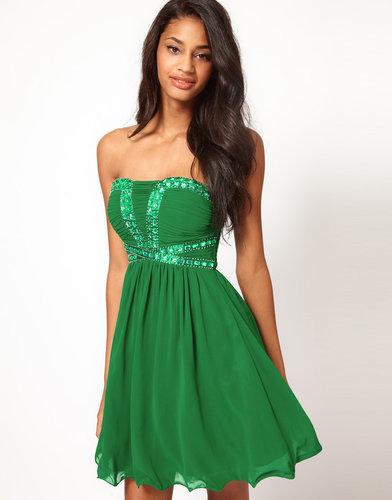 Little Mistress Sequin Bustier Babydoll Dress