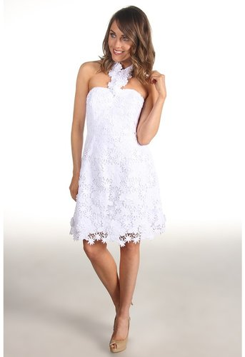 Lilly Pulitzer - Kailene Dress (Resort White Truly Floral Lace) - Apparel