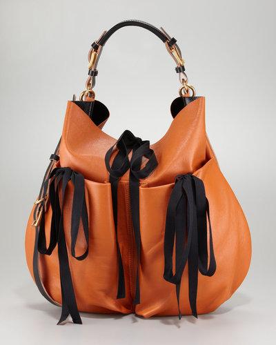 Marni Lambskin Shoulder Bag