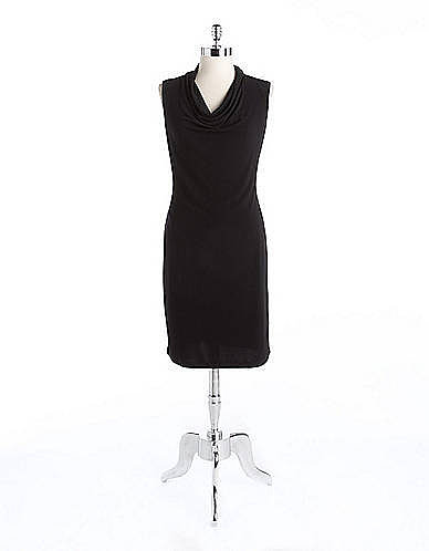 CALVIN KLEIN Sleeveless Cowlneck Dress