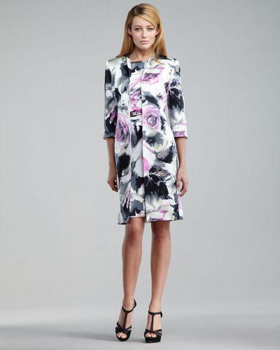 Albert Nipon Floral-Print Jacket & Dress Set