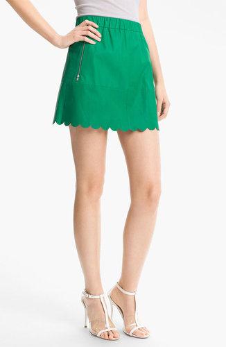 Tracy Reese Lambskin Leather Miniskirt