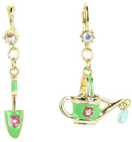 Betsey Johnson - Garden Party Shovel Pail Earrings (Multi) - Jewelry