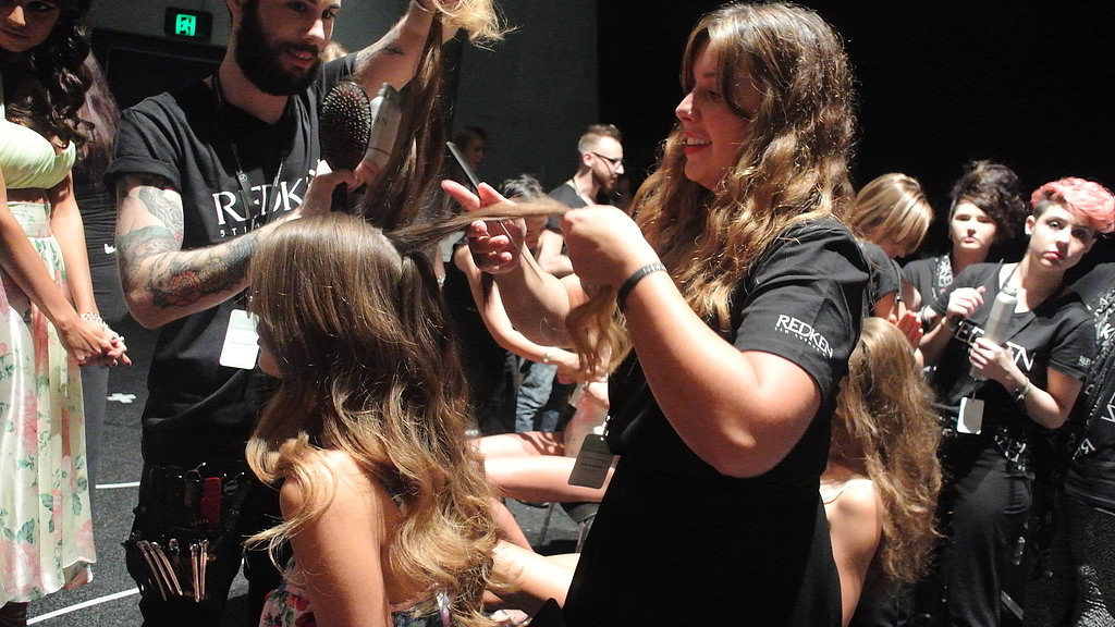 """If you couldn't already tell, it's a little bit '50s and '60s inspired!"" says Redken's Paloma Rose Garcia."