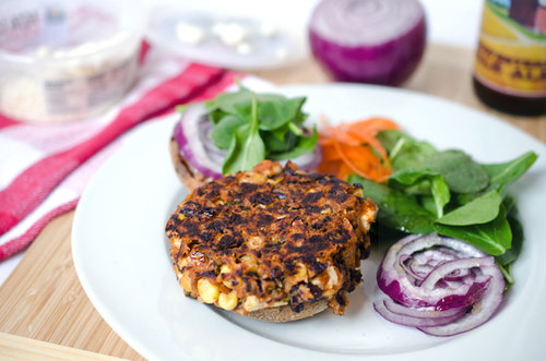 Feta and Black Bean Burgers