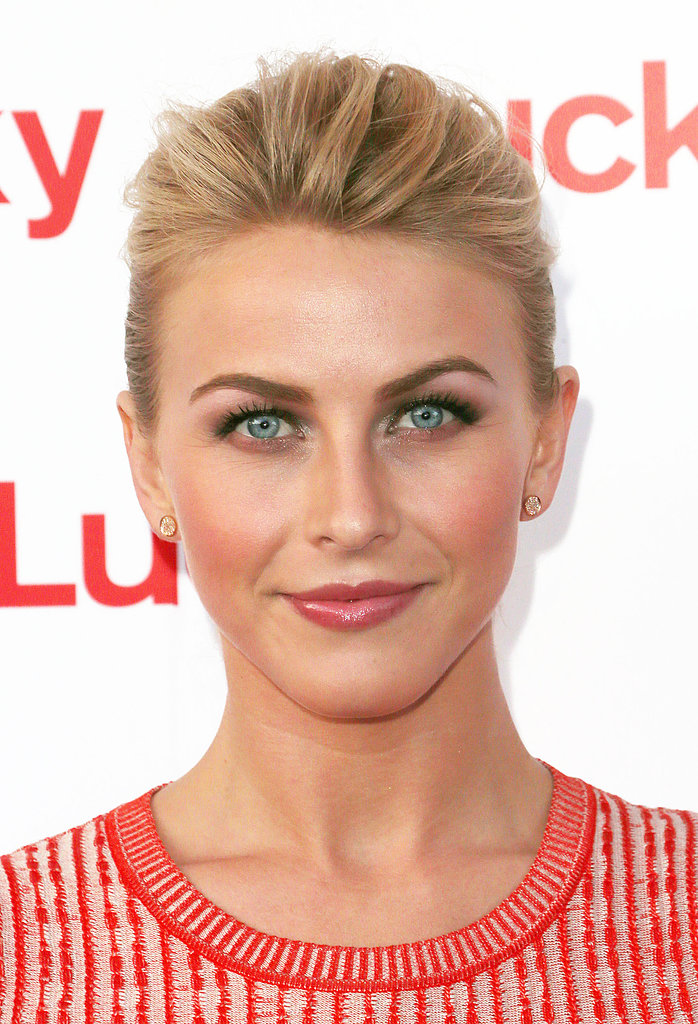 Giving your updo volume in the front, like Julianne Hough did here, allows your pretty makeup to shine.